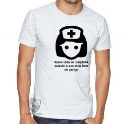 Camiseta Enfermagem nossa vida