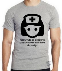 Camiseta Infantil Enfermagem nossa vida