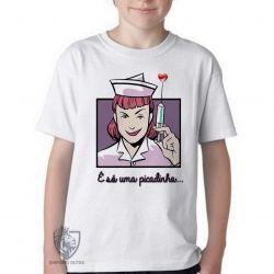 Camiseta Infantil Enfermagem picadinha