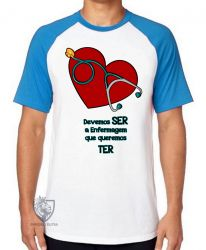 Camiseta Raglan Enfermagem ser ter