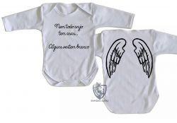 Roupa Bebê manga longa Enfermagem vestem branco