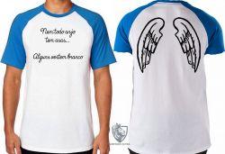 Camiseta Raglan Enfermagem vestem branco
