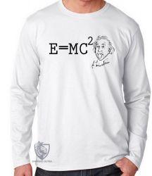 Camiseta Manga Longa fórmula Einstein