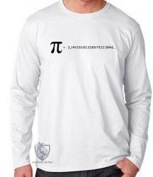 Camiseta Manga Longa fórmula Pi