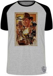 Camiseta Raglan Indiana Jones e o cálice