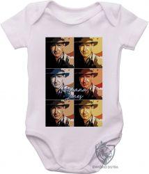 Roupa Bebê Indiana Jones quadrados