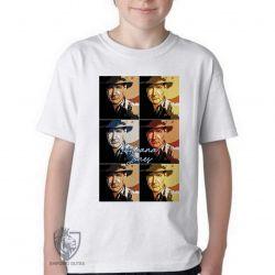 Camiseta Infantil Indiana Jones quadrados