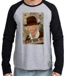 Camiseta Manga Longa Indiana Jones jornal