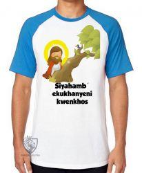Camiseta Raglan Jesus Siyahamba