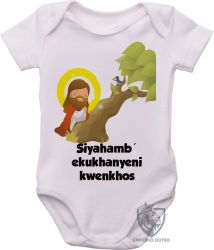 Roupa Bebê Jesus Siyahamba