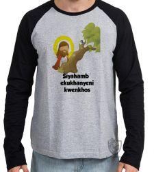 Camiseta Manga Longa Jesus Siyahamba