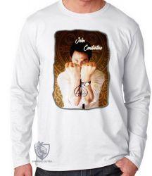 Camiseta Manga Longa John Constantine demônios