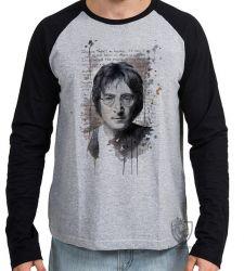 Camiseta Manga Longa John Lennon Imagine