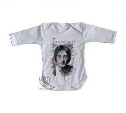 Roupa Bebê manga longa John Lennon Imagine
