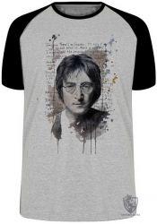 Camiseta Raglan John Lennon Imagine