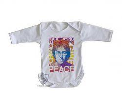 Roupa Bebê manga longa John Lennon peace