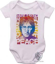 Roupa Bebê John Lennon peace