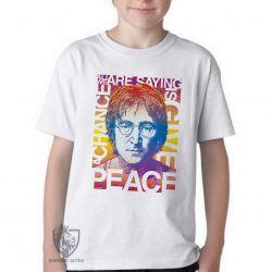 Camiseta Infantil John Lennon peace