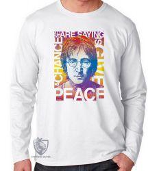 Camiseta Manga Longa John Lennon peace