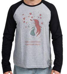 Camiseta Manga Longa Mãe amor bonito