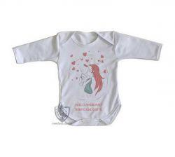 Roupa Bebê manga longa Mãe amor bonito