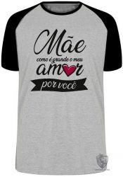 Camiseta Raglan Mãe amor você