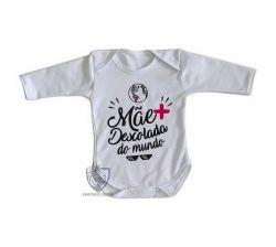Roupa Bebê manga longa Mãe descolada