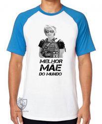 Camiseta Raglan Sarah Connor mãe mundo