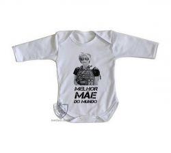 Roupa Bebê manga longa Sarah Connor mãe mundo