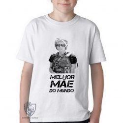 Camiseta Infantil Sarah Connor mãe mundo
