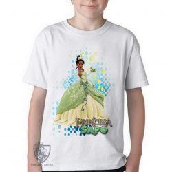 Camiseta Infantil A princesa e o sapo