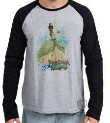 Camiseta Manga Longa A princesa e o sapo