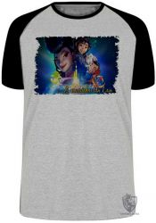 Camiseta Raglan A caminho da lua