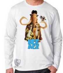 Camiseta Manga Longa A era do gelo