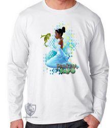 Camiseta Manga Longa A princesa e o sapo vestido