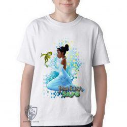 Camiseta Infantil A princesa e o sapo vestido
