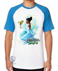 Camiseta Raglan A princesa e o sapo vestido