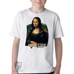Camiseta Infantil Mona Lisa Da Vinci