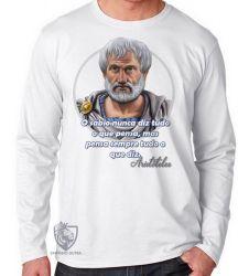 Camiseta Manga Longa Aristóteles