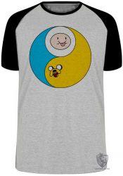 Camiseta Raglan Jake Finn redondo