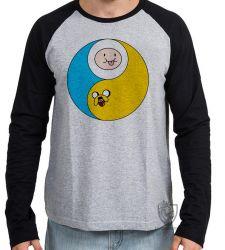 Camiseta Manga Longa Jake Finn redondo