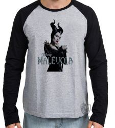 Camiseta Manga Longa Malévola cajado