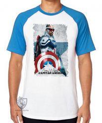 Camiseta Raglan Sam Wilson Capitão América