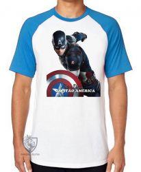 Camiseta Raglan Steve Rogers Cap