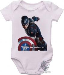 Roupa Bebê Steve Rogers Cap