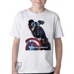 Camiseta Infantil Steve Rogers Cap