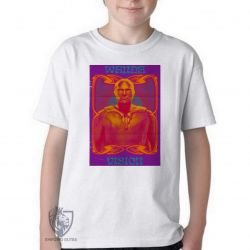 Camiseta Infantil Visão Vingadores herói