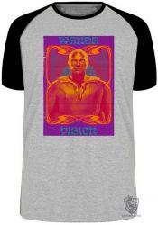 Camiseta Raglan Visão Vingadores herói