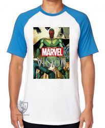 Camiseta Raglan Visão herói antigo