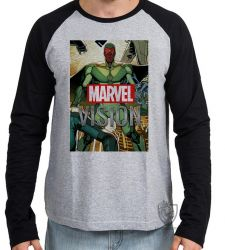 Camiseta Manga Longa Visão herói antigo